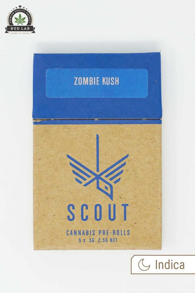 Scout Pre Rolls Indica Zombie Kush 5 Pack