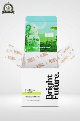Bright Future Wide Matcha Magic Microdose Mushrooms Open Lid