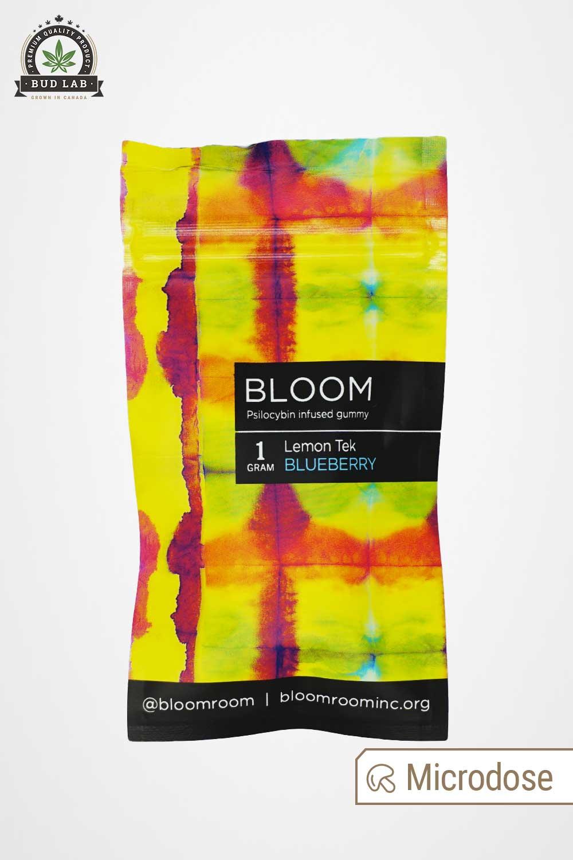 Bloom Lemon Tek Blueberry Gummy Package Back
