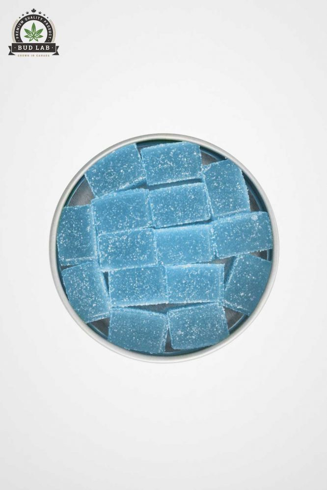 Boost Blue Raspberry Edibles Hybrid Lid Off