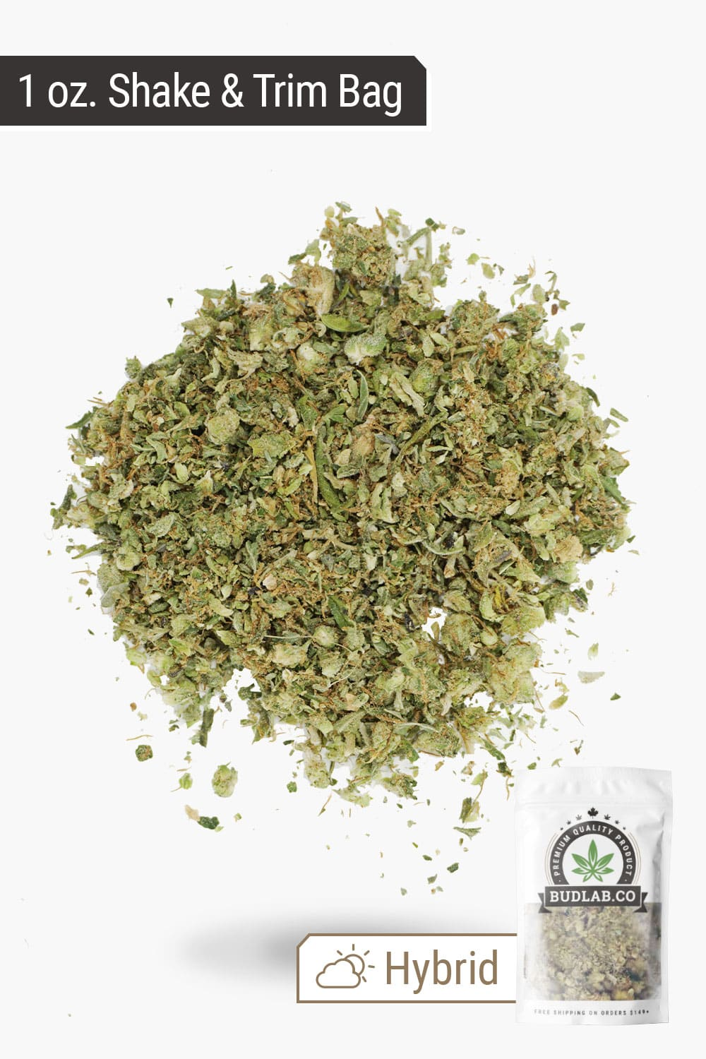 1/2 oz Shake & Trim Bag Profile Shot