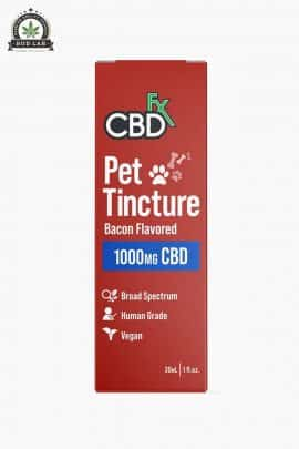 CBDfx Bacon Flavoured Pet Tincture 1000mg Large Breeds