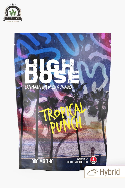 High Dose Hybrid Gummies Tropical Punch 1000mg