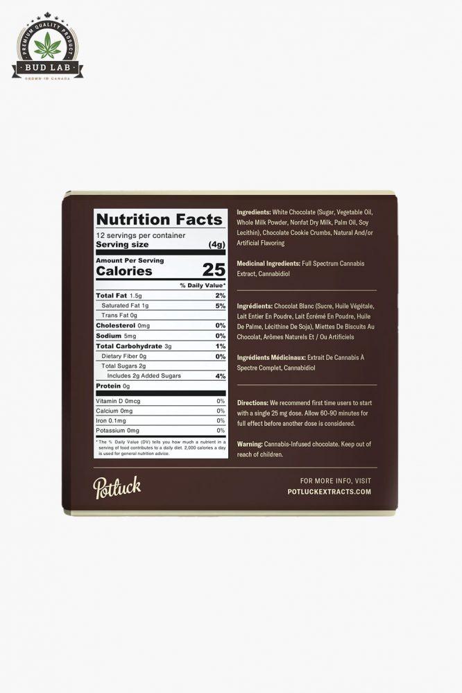 Potluck Cookies N' Cream Chocolate 300mg 3