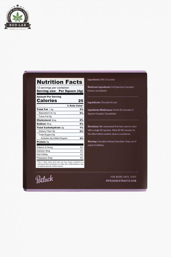 Potluck Hybrid Milk Chocolate 300mg 3