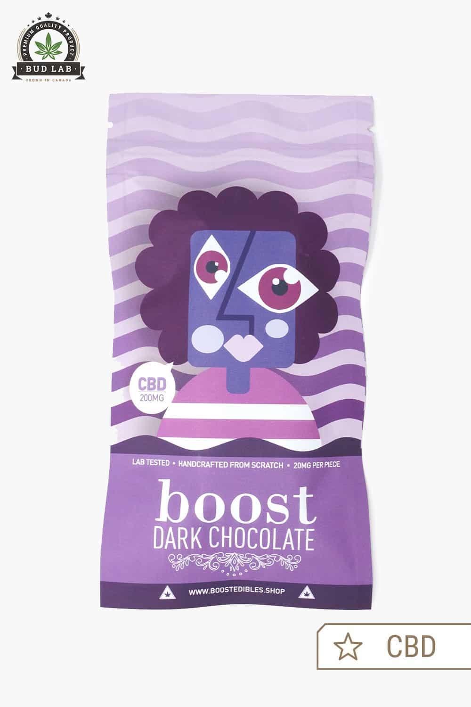 Boost Edibles Dark Chocolate Bar CBD 200mg