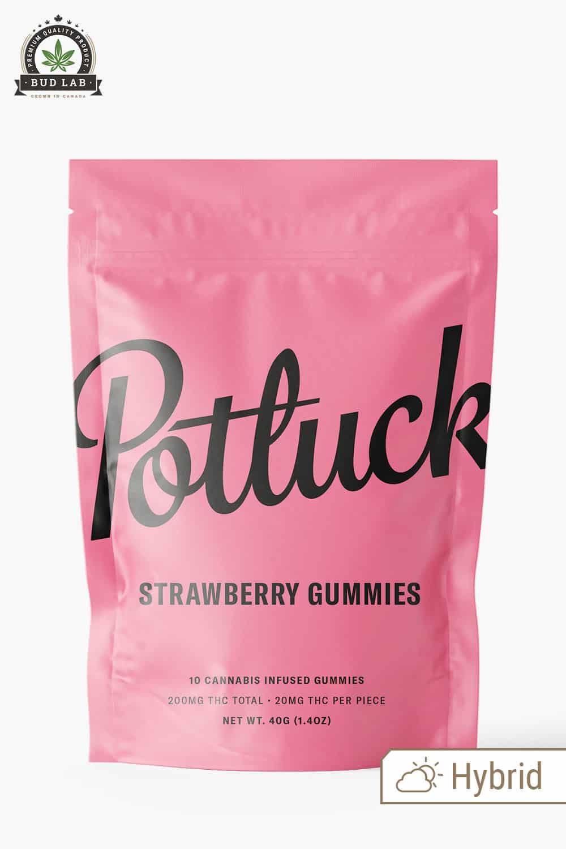 Potluck Hybrid Strawberry Gummies 200mg