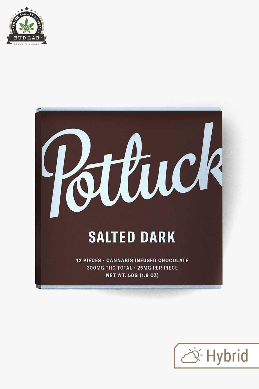 Potluck Hybrid Salted Dark Chocolate 300mg
