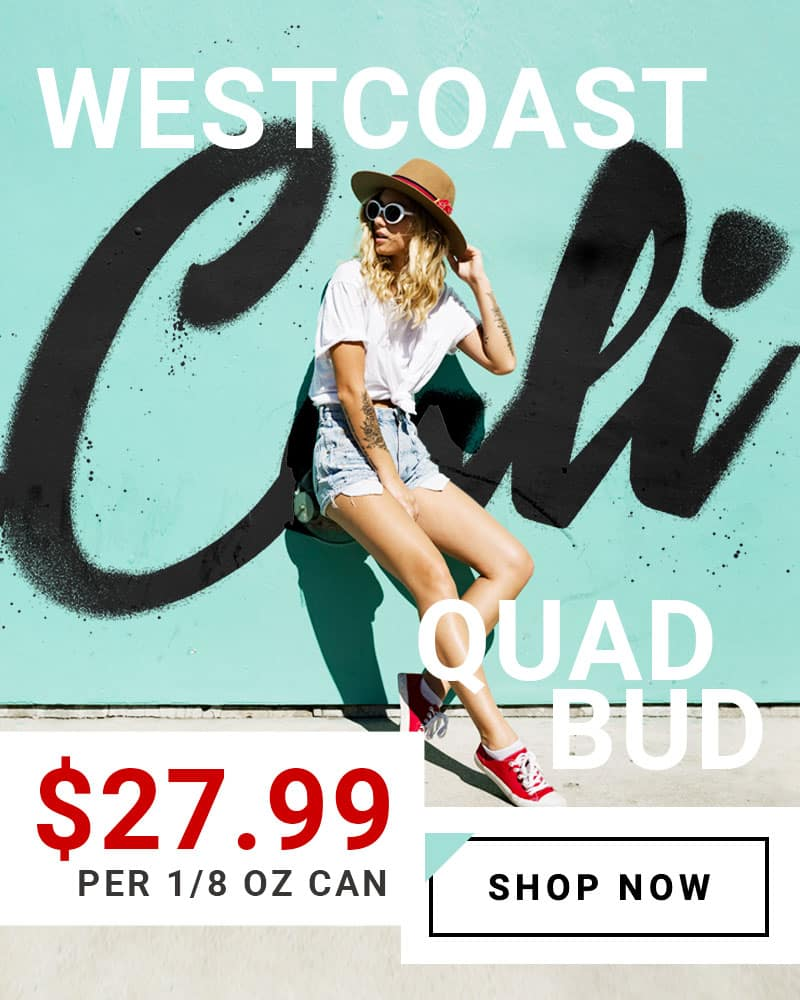 Westcoast Quad Bud Promo Home Slider