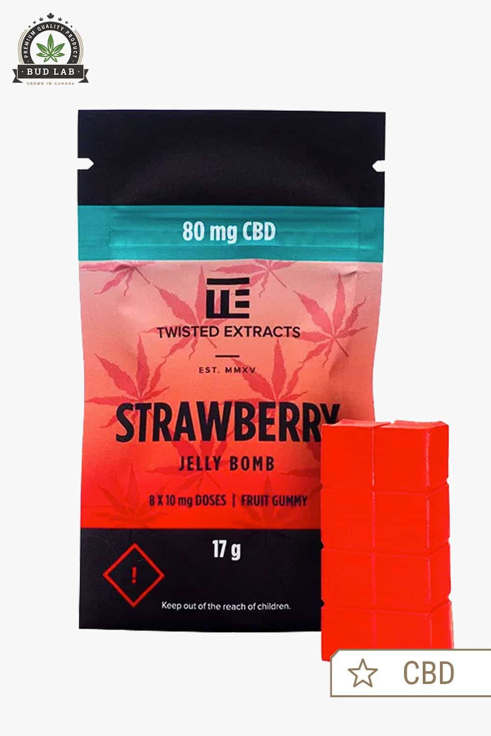 Twisted Extracts Strawberry CBD Jelly Bomb 80mg