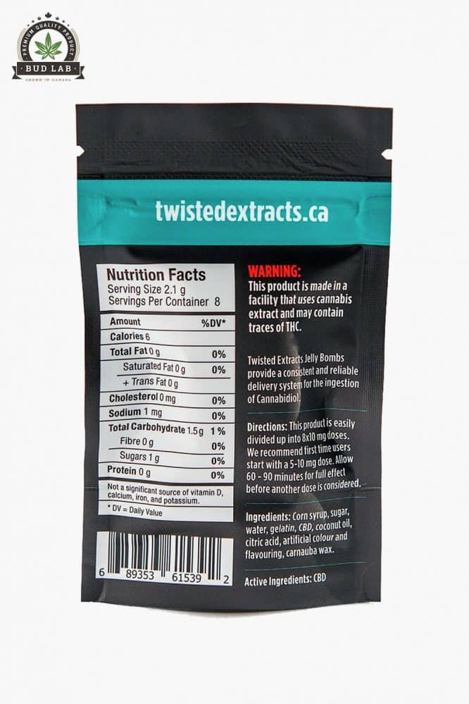 Twisted Extracts Strawberry CBD Jelly Bomb 80mg 2