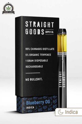 Straight Goods Blueberry OG Vape Pen Indica