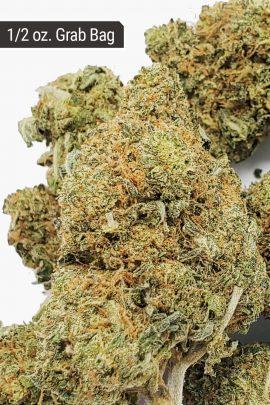 Bubba Kush AA+ 1/2 oz Grab Bag Close Up of Buds